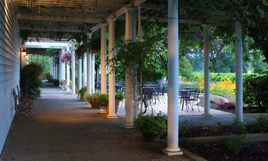Duck Pond Cellars : Duck Pond's terrace outside is a great place to bring your family and relax