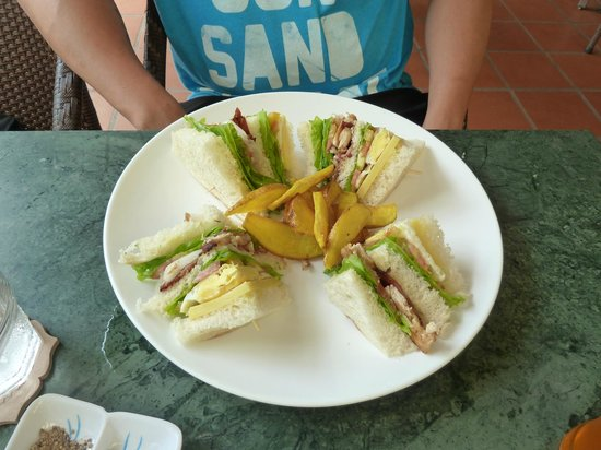 Coolabah Hotel: Club sandwich lunch.