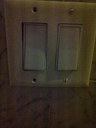 Vanessa Noel Hotel : light switch falling apart beside sink