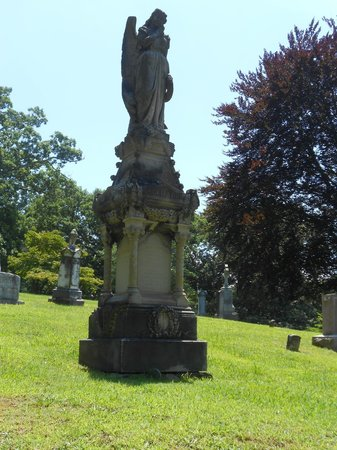 very old ornate monument in riverside cemetery