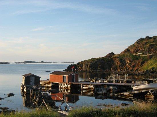 Kelsie's Inn - B & B: Old fishing stages in Durrells, twillingate