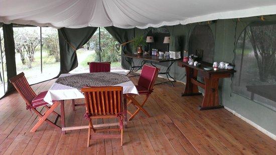 Sala's Camp: living room tent