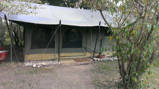 Sala's Camp: outside of my tent