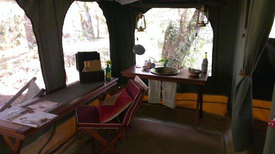 Sala's Camp: inside my tent