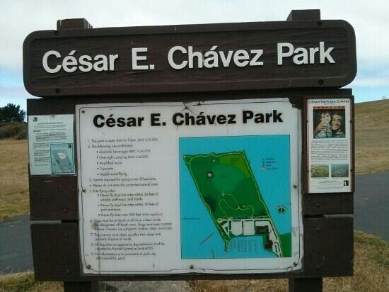 César Chávez Park: sign at park