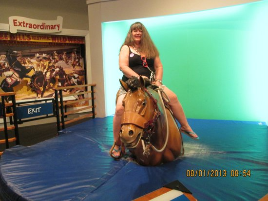 National Cowgirl Museum and Hall of Fame: The interactive bucking bronco ride