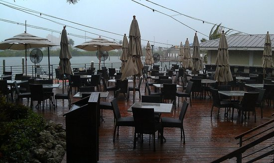 Island Way Grill: Patio On A Rainy Day