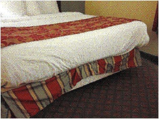 Baymont Inn & Suites Evansville East: Sloppy beds