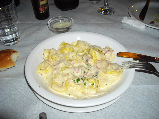 Galliano: tortellini stuffed with mushrooms