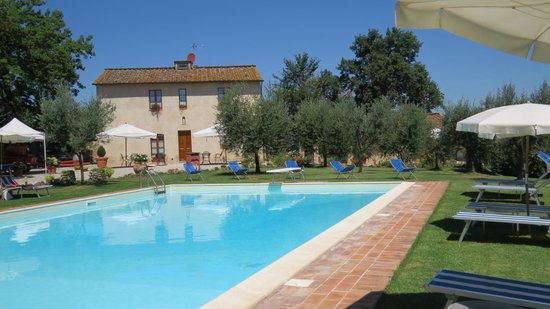 Podere Sant'Elena: Pool and Garden Area