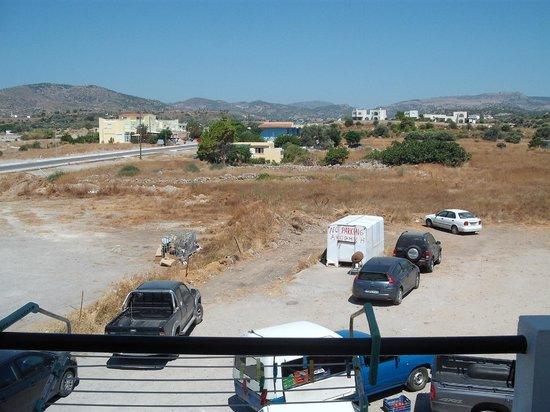 Porto Haraki Studios: View from room 7 rear.