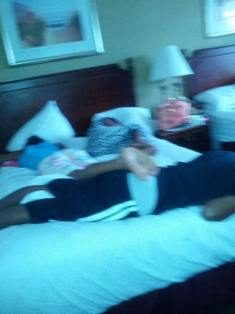 Days Inn Miami Airport North: All of my kids in one bed since the rollaway was so dirty