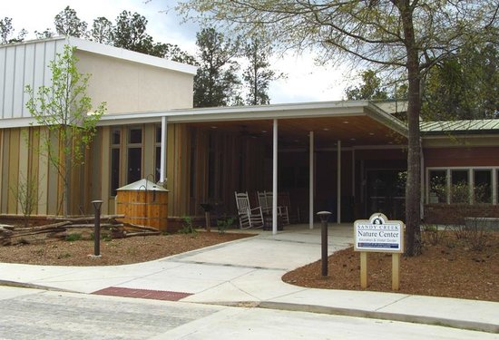 Sandy Creek Nature Center : Education & Visitor Center entrance.