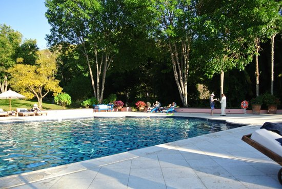 Hacienda de San Antonio: The pool in early evening