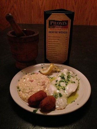 Piloni's Italian Restaurant: Orange Roughy Filet!