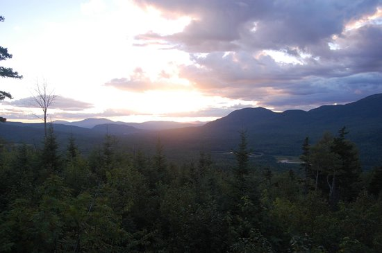 Maine Huts & Trails : View of the Bigelow Range from Stratton Brook Hut