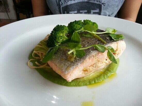 The Lovat Brasserie: stuffed salmon
