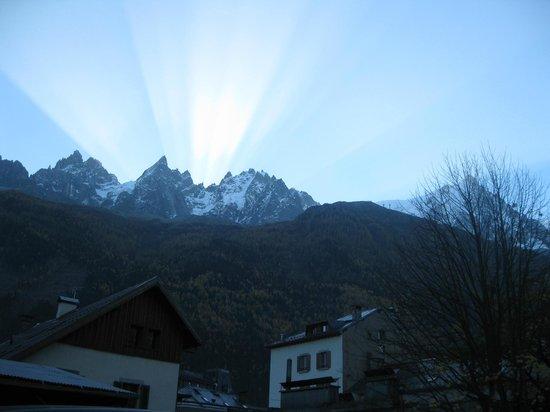 Mont Blanc : salida del sol