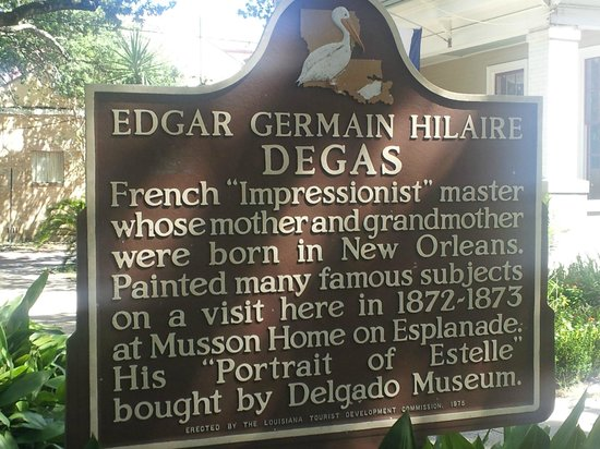Edgar Degas House Creole Impressionist Tour : Sign