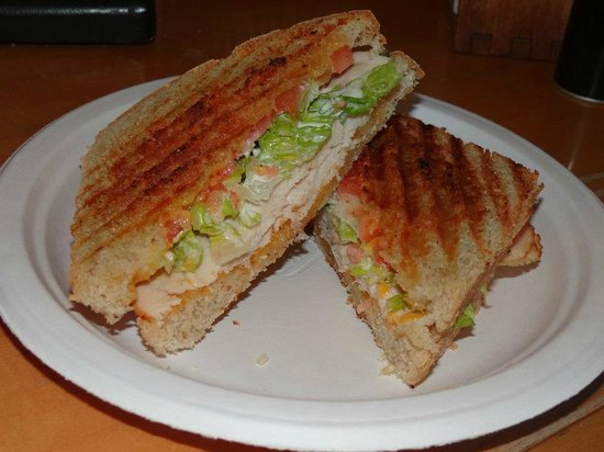 Country Morning Coffee: Delicious panini