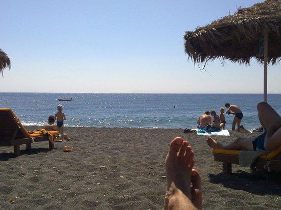 Perissa Beach: Black Beach Perissa