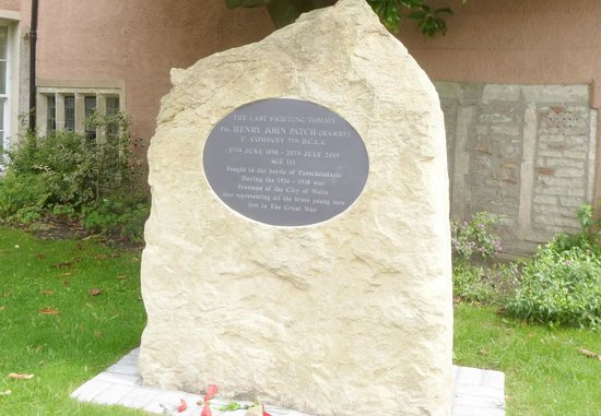 Wells Walking Tours : Harry Patch's memorial