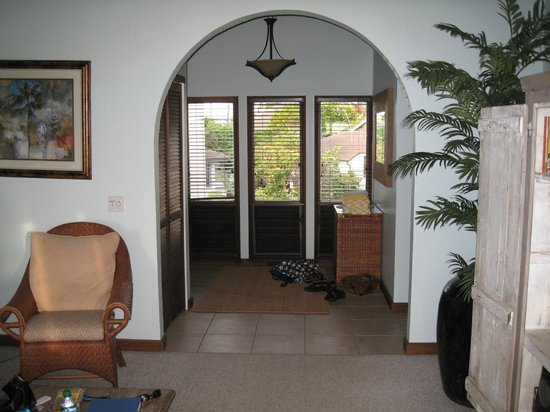 Aston at Poipu Kai: living room towards entrance, to the left were couches