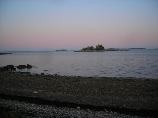 Lobster Buoy Campsites: The Island from our campsite
