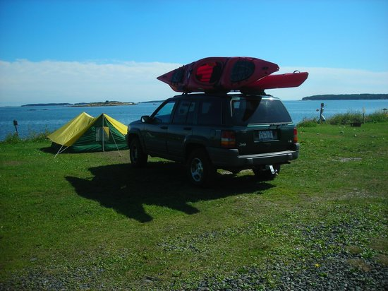 Lobster Buoy Campsites: our campsite