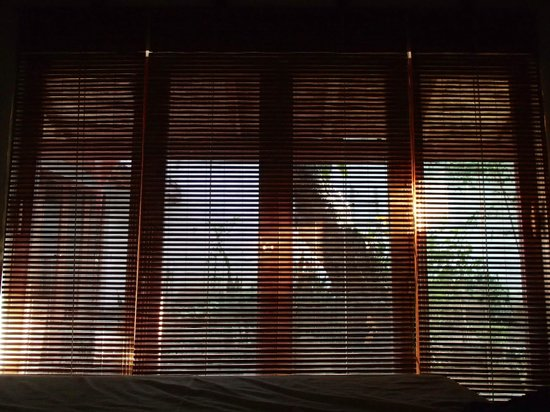 Il Padrino Hotel: view from bed with the early morning light