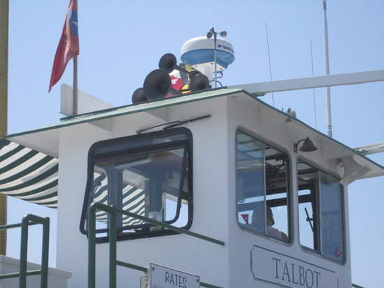Oxford-Bellevue Ferry: The helm of the Ferry