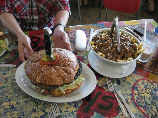 Bernie & The Boys Bistro: The Mammoth Burger and Family-Sized Poutine!