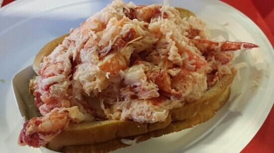 The Beach Plum: Stuffed 10-ounce lobster roll.