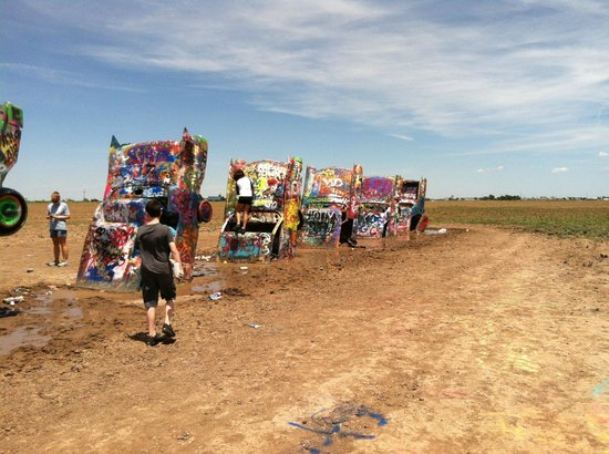 Cadillacs Buried In The Field Picture Of Cadillac Ranch