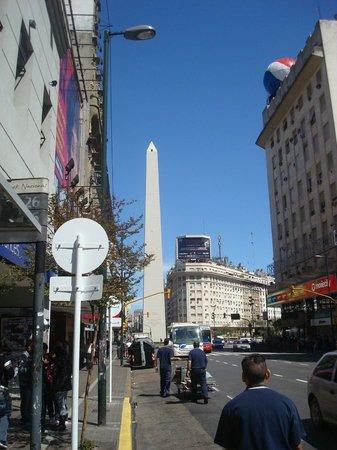 Hostel Suites Obelisco : vista do obelisco