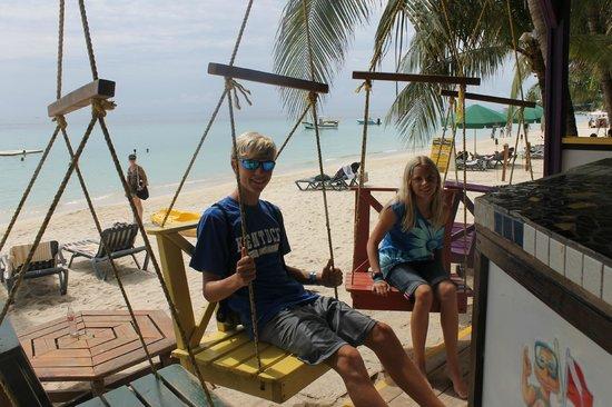 Island Pearl: sitting at the beach bar