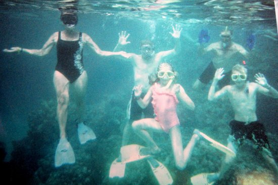 Island Pearl: A family that snorkels together, stays together!