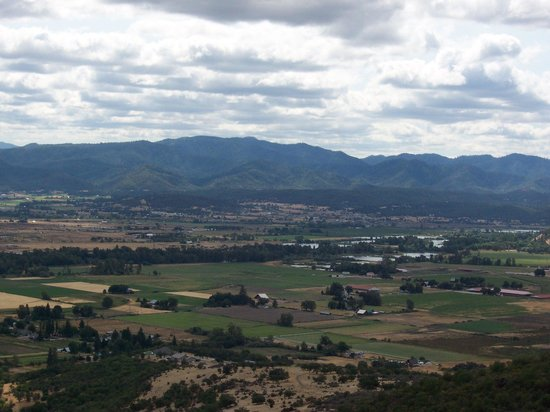 Upper and Lower Table Rock: View of Rogue Valley from Upper Table Rock.