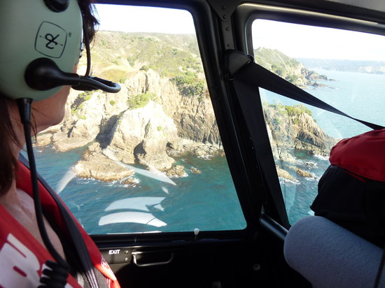 Treghan Luxury Lodge: Beautiful views from the Helicopter over the Cavalli Islands