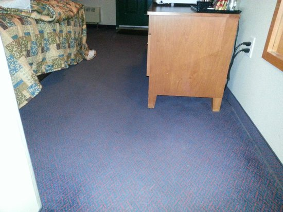 Peace Valley Inns: Grimey carpet