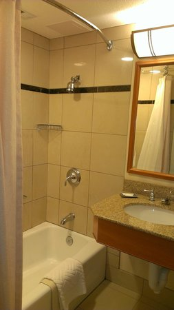 Hilton Seattle Airport & Conference Center: very small bathroom for $459