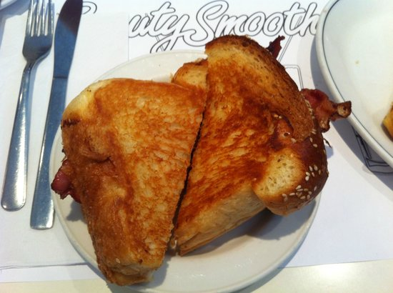 Beauty's Restaurant: Grilled Cheese with Bacon on challah bread