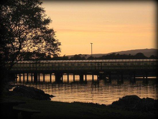 Craignure Inn: Ferry terminal at sunset