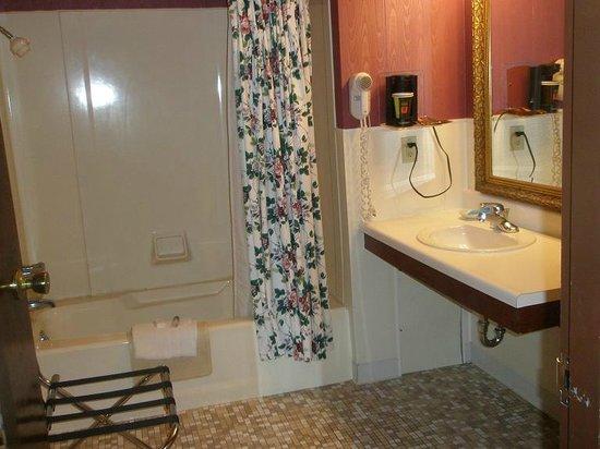 Plaza Motor Motel: Huge bathroom