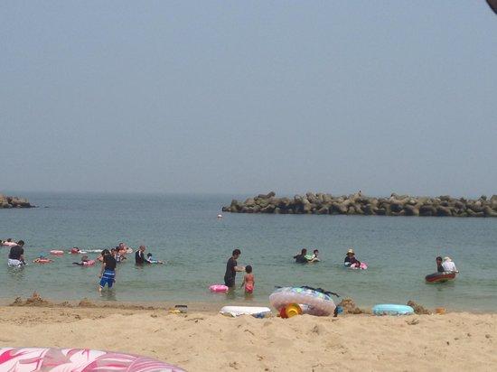 Chidorigahama Beach: 穏やかで遠浅の海水浴場です。