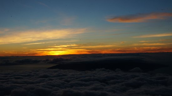 Haleakala Crater: unmittelbar nach Sonnenuntergang