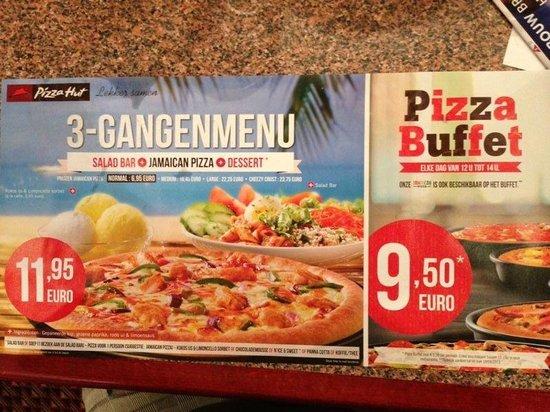 Pizza Hut: Menu de pizza individual mas ensalada y postre