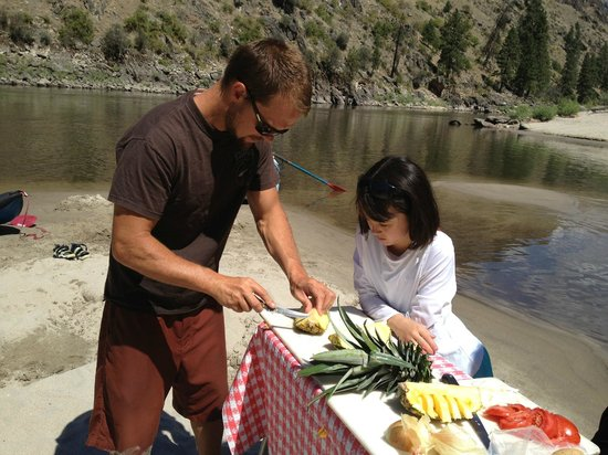 Exodus Wilderness Adventures - Day Tours : Impressive fruit presentations by Brett on our rafting trip.