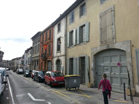 Cote Cite : Outside the hotel and the old street, rue Trivalle