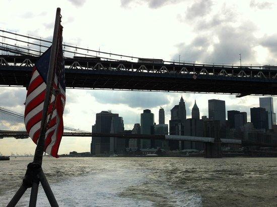 East River Ferry: 船上からのマンハッタン&ブルックリンブリッジとダウンタウン